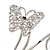 Silver Plated Filigree, Crystal Butterfly & Twirl Upper Arm, Armlet Bracelet - Adjustable - view 6
