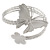 Silver Plated Hammered Butterfly & Flower Upper Arm, Armlet Bracelet - Adjustable - view 3