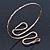 Egyptian Style Hammered Snake Upper Arm, Armlet Bracelet In Antique Gold Plating - Adjustable - view 6
