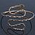 Egyptian Style Hammered Snake Upper Arm, Armlet Bracelet In Antique Gold Plating - Adjustable - view 9