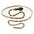 Egyptian Style Hammered Snake Upper Arm, Armlet Bracelet In Antique Gold Plating - Adjustable - view 2