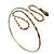 Egyptian Style Hammered Snake Upper Arm, Armlet Bracelet In Antique Gold Plating - Adjustable - view 3