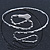 Egyptian Style Hammered Snake Upper Arm, Armlet Bracelet In Silver Plating - Adjustable