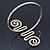 Greek Style Hammered Swirl Upper Arm, Armlet Bracelet In Gold Plating - Adjustable - view 5