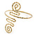 Greek Style Hammered Swirl Upper Arm, Armlet Bracelet In Gold Plating - Adjustable - view 9