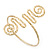 Greek Style Hammered Swirl Upper Arm, Armlet Bracelet In Gold Plating - Adjustable - view 11