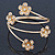 Gold Plated Crystal Daisy Upper Arm, Armlet Bracelet - Adjustable - view 8