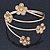 Gold Plated Crystal Daisy Upper Arm, Armlet Bracelet - Adjustable - view 9