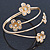 Gold Plated Crystal Daisy Upper Arm, Armlet Bracelet - Adjustable - view 5
