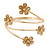 Gold Plated Crystal Daisy Upper Arm, Armlet Bracelet - Adjustable - view 10