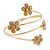 Gold Plated Crystal Daisy Upper Arm, Armlet Bracelet - Adjustable - view 11