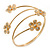 Gold Plated Crystal Daisy Upper Arm, Armlet Bracelet - Adjustable - view 2