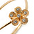 Gold Plated Crystal Daisy Upper Arm, Armlet Bracelet - Adjustable - view 3