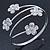 Silver Plated Crystal Daisy Upper Arm, Armlet Bracelet - Adjustable