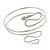 Silver Plated Hammered Snake Upper Arm, Armlet Bracelet - up to 27cm upper arm - view 12