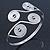 Greek Style Swirl Upper Arm, Armlet Bracelet In Silver Plating - Adjustable