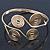 Greek Style Swirl Upper Arm, Armlet Bracelet In Gold Plating - Adjustable - view 12