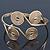 Greek Style Swirl Upper Arm, Armlet Bracelet In Gold Plating - Adjustable - view 8