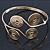 Greek Style Swirl Upper Arm, Armlet Bracelet In Gold Plating - Adjustable - view 10