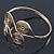 Greek Style Swirl Upper Arm, Armlet Bracelet In Gold Plating - Adjustable - view 9