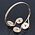 Greek Style Swirl Upper Arm, Armlet Bracelet In Gold Plating - Adjustable - view 6