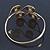Greek Style Swirl Upper Arm, Armlet Bracelet In Gold Plating - Adjustable - view 7