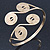 Greek Style Swirl Upper Arm, Armlet Bracelet In Gold Plating - Adjustable - view 2