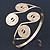 Greek Style Swirl Upper Arm, Armlet Bracelet In Gold Plating - Adjustable - view 13