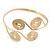 Greek Style Swirl Upper Arm, Armlet Bracelet In Gold Plating - Adjustable