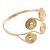 Greek Style Swirl Upper Arm, Armlet Bracelet In Gold Plating - Adjustable - view 5