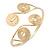 Greek Style Swirl Upper Arm, Armlet Bracelet In Gold Plating - Adjustable - view 3