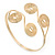 Greek Style Swirl Upper Arm, Armlet Bracelet In Gold Plating - Adjustable - view 11