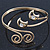 Gold Plated 'Swirl And Crystal Crescent' Upper Arm Bracelet - Adjustable - view 7