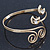 Gold Plated 'Swirl And Crystal Crescent' Upper Arm Bracelet - Adjustable - view 9