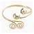 Gold Plated 'Swirl And Crystal Crescent' Upper Arm Bracelet - Adjustable - view 6