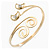 Gold Plated 'Swirl And Crystal Crescent' Upper Arm Bracelet - Adjustable - view 10