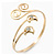 Gold Plated 'Swirl And Crystal Crescent' Upper Arm Bracelet - Adjustable - view 5