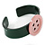 Dark Green, Pink Acrylic Button Cuff Bracelet - 19cm L - view 4