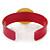 Magenta, Yellow Acrylic Button Cuff Bracelet - 19cm L - view 3