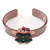 Beige, Pink, Dark Green Crystal Acrylic 'Gingerbread Girl' Cuff Bracelet - 19cm L - view 6