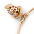 Gold Tone Slip-On Cuff Bracelet With A Skull In The Hat Charm - 19cm L - view 4