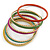 Multicoloured Smooth and Twisted Metal Bangle Set of 9 In Gold Tone - 20cm Length - view 9