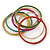 Multicoloured Smooth and Twisted Metal Bangle Set of 9 In Gold Tone - 20cm Length - view 4