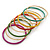Multicoloured Smooth and Twisted Metal Bangle Set of 9 In Gold Tone - 20cm Length - view 6