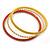 Multicoloured Smooth and Twisted Metal Bangle Set of 9 In Gold Tone - 20cm Length - view 5