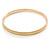 Thin Cream Enamel Bangle Bracelet In Gold Plating - 19cm L - view 2
