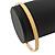 Thin Cream Enamel Bangle Bracelet In Gold Plating - 19cm L - view 3