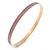 Thin Lavender Enamel Bangle Bracelet In Gold Plating - 19cm L