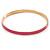 Thin Pink Enamel Bangle Bracelet In Gold Plating - 19cm L - view 4