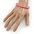 Thin Pink Enamel Bangle Bracelet In Gold Plating - 19cm L - view 3